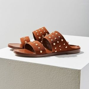 urban outfitters / Tan Studded Suede Slide  7